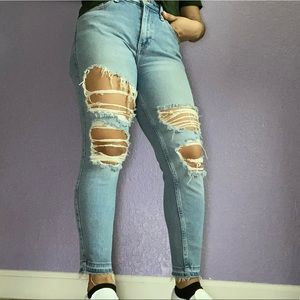 High rise vintage mom jeans